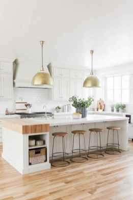 50 Best Modern Farmhouse Kitchen Island Decor Ideas (45)