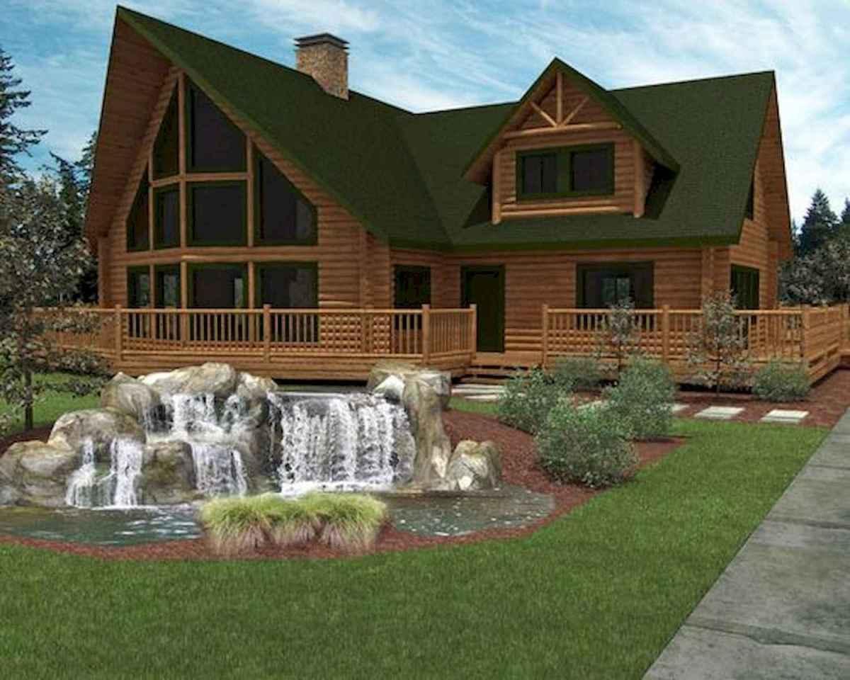 40 Best Log Cabin Homes Plans One Story Design Ideas (18)