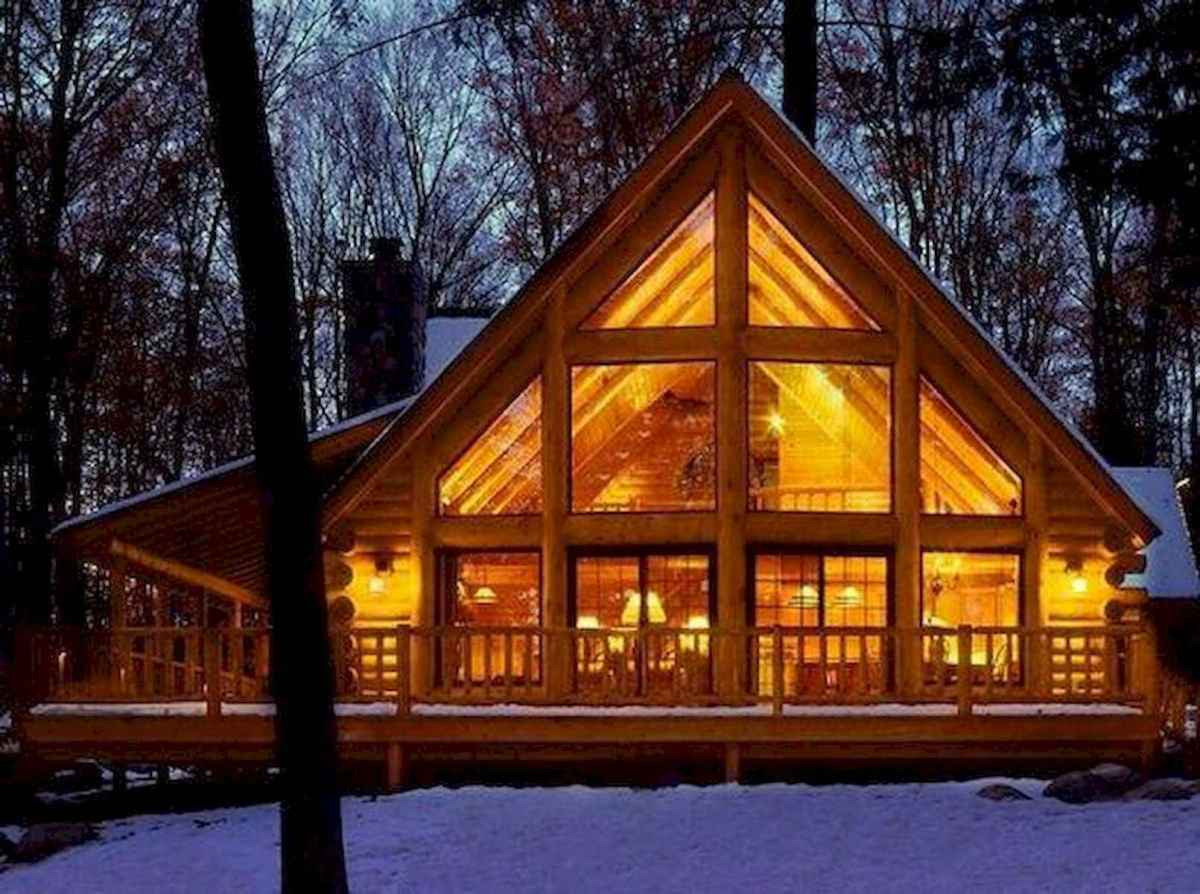 40 Best Log Cabin Homes Plans One Story Design Ideas (22)