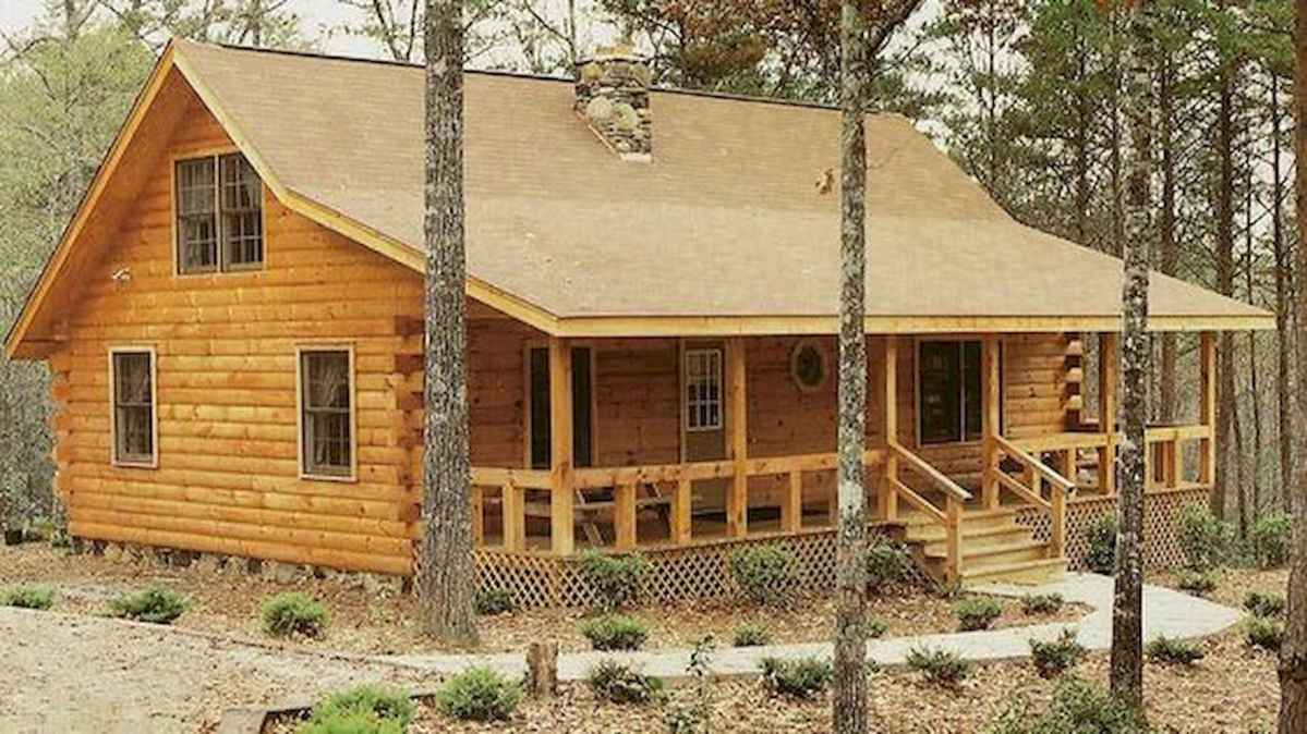 40 Best Log Cabin Homes Plans One Story Design Ideas (32)