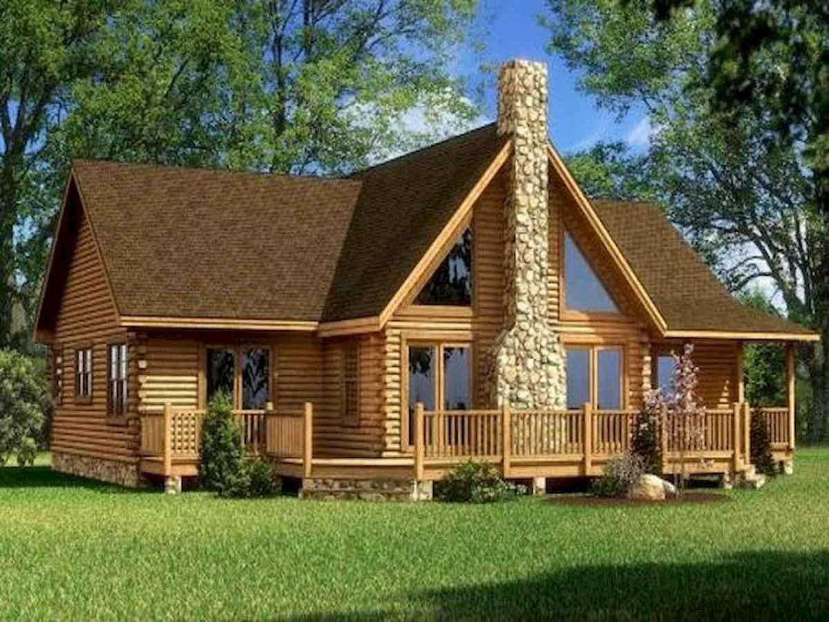 40 Best Log Cabin Homes Plans One Story Design Ideas (35)