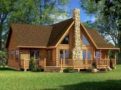 40 Best Log Cabin Homes Plans One Story Design Ideas (35)
