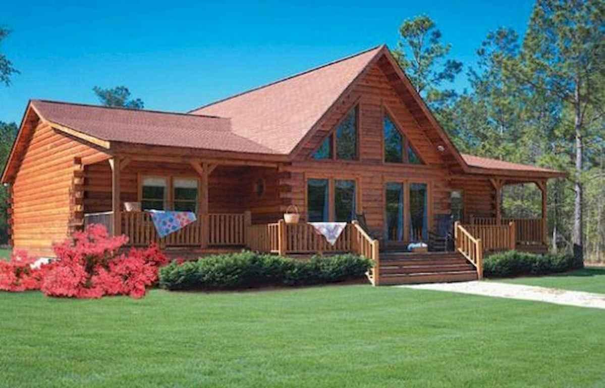 40 Best Log Cabin Homes Plans One Story Design Ideas (37)