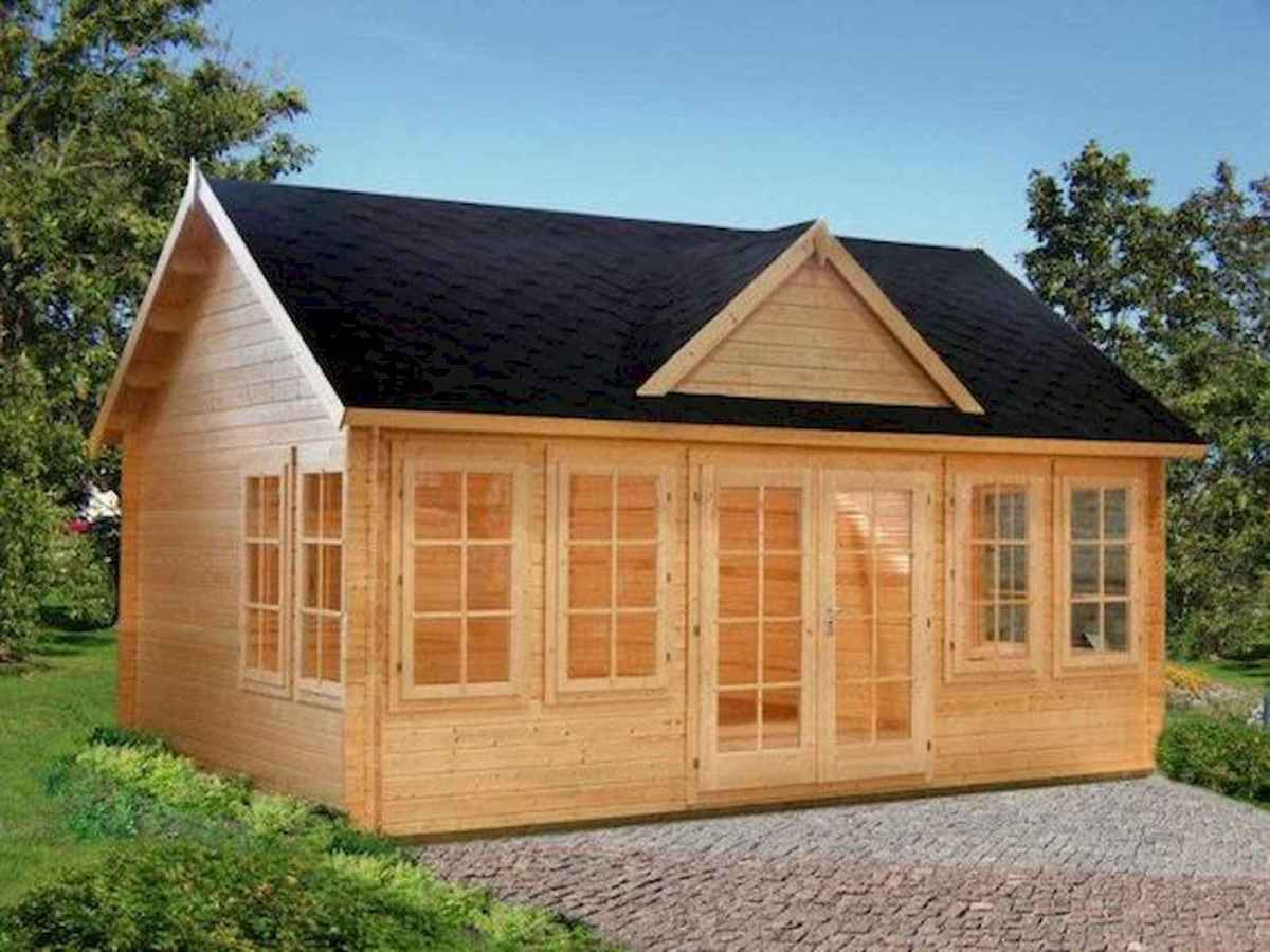 40 Best Log Cabin Homes Plans One Story Design Ideas (40)