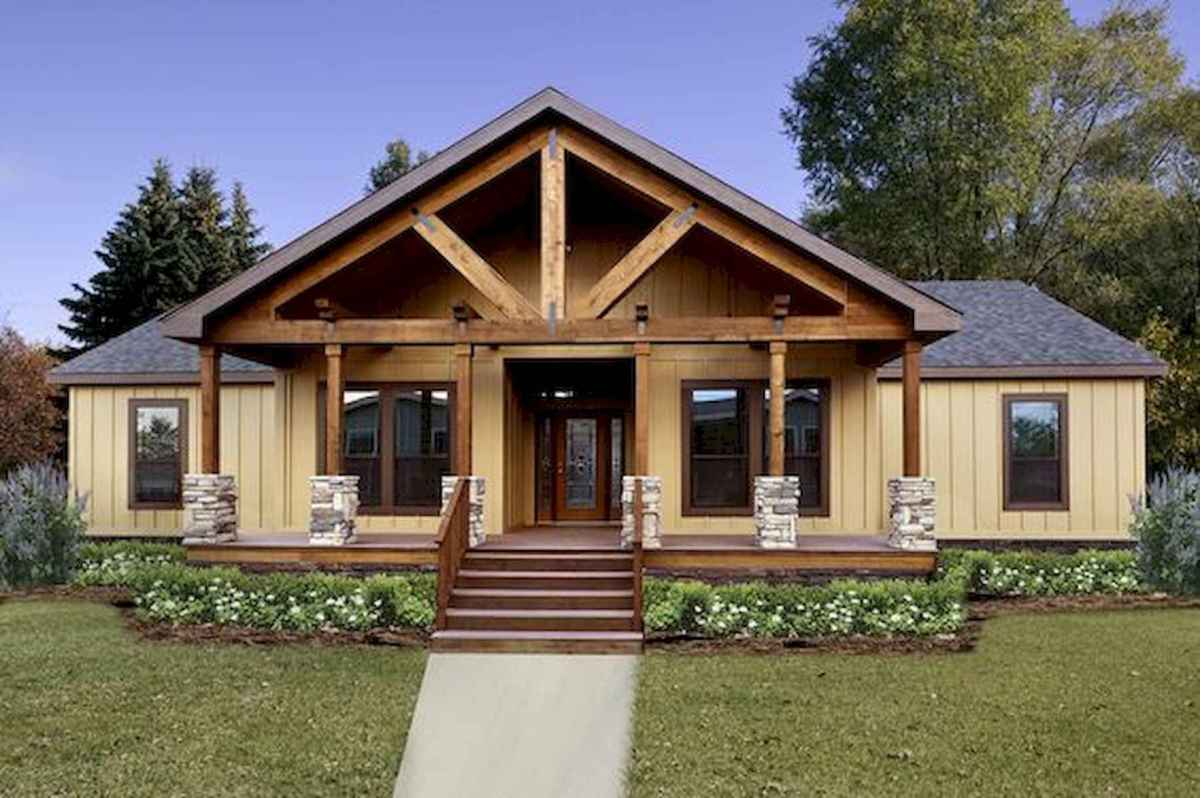 40 Best Log Cabin Homes Plans One Story Design Ideas (41)