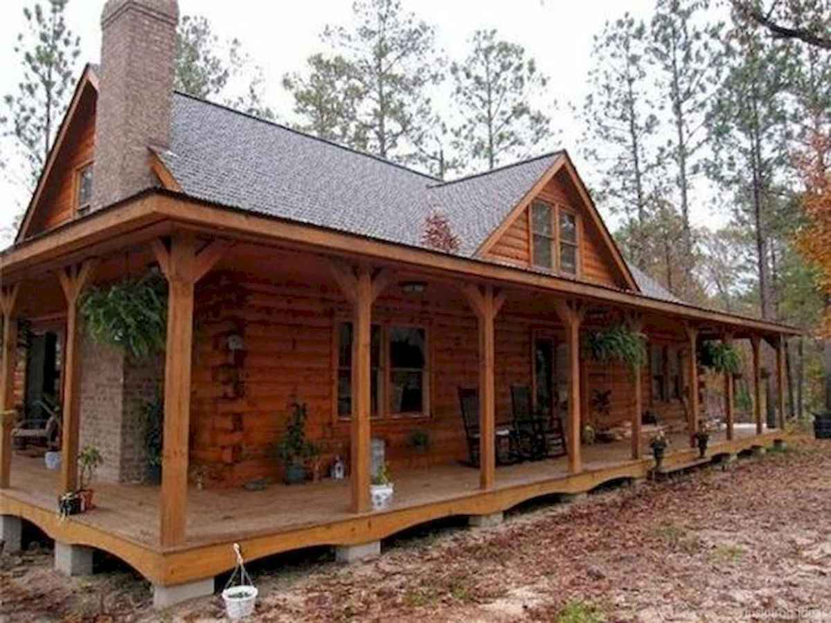 40 Best Log Cabin Homes Plans One Story Design Ideas (42)