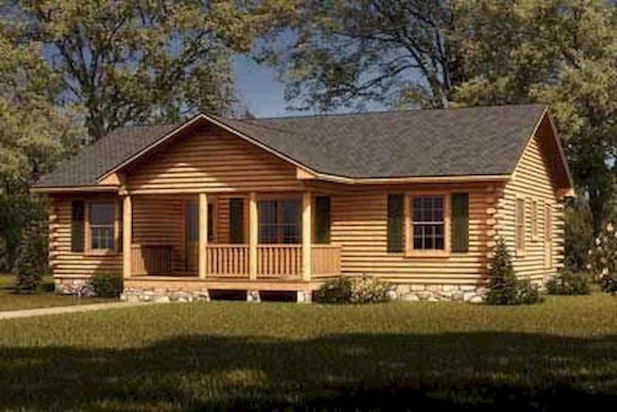 40 Best Log Cabin Homes Plans One Story Design Ideas (43)