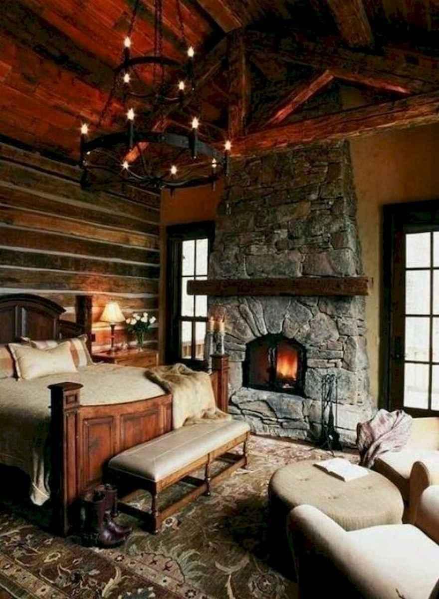 60 Stunning Log Cabin Homes Fireplace Design Ideas (10)