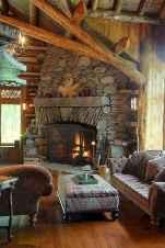 60 Stunning Log Cabin Homes Fireplace Design Ideas (42)