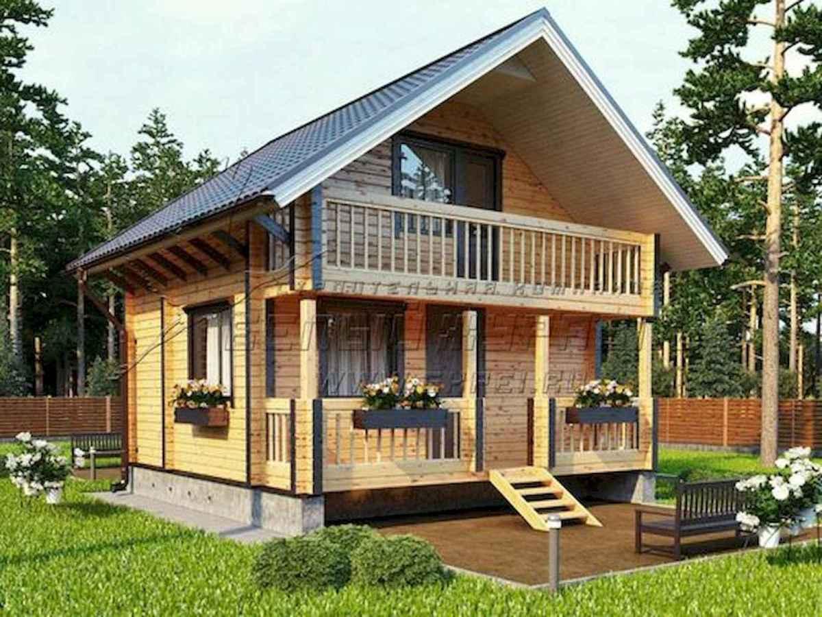 70 Fantastic Small Log Cabin Homes Design Ideas (12)