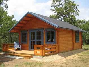 70 Fantastic Small Log Cabin Homes Design Ideas (14)