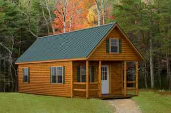 70 Fantastic Small Log Cabin Homes Design Ideas (19)