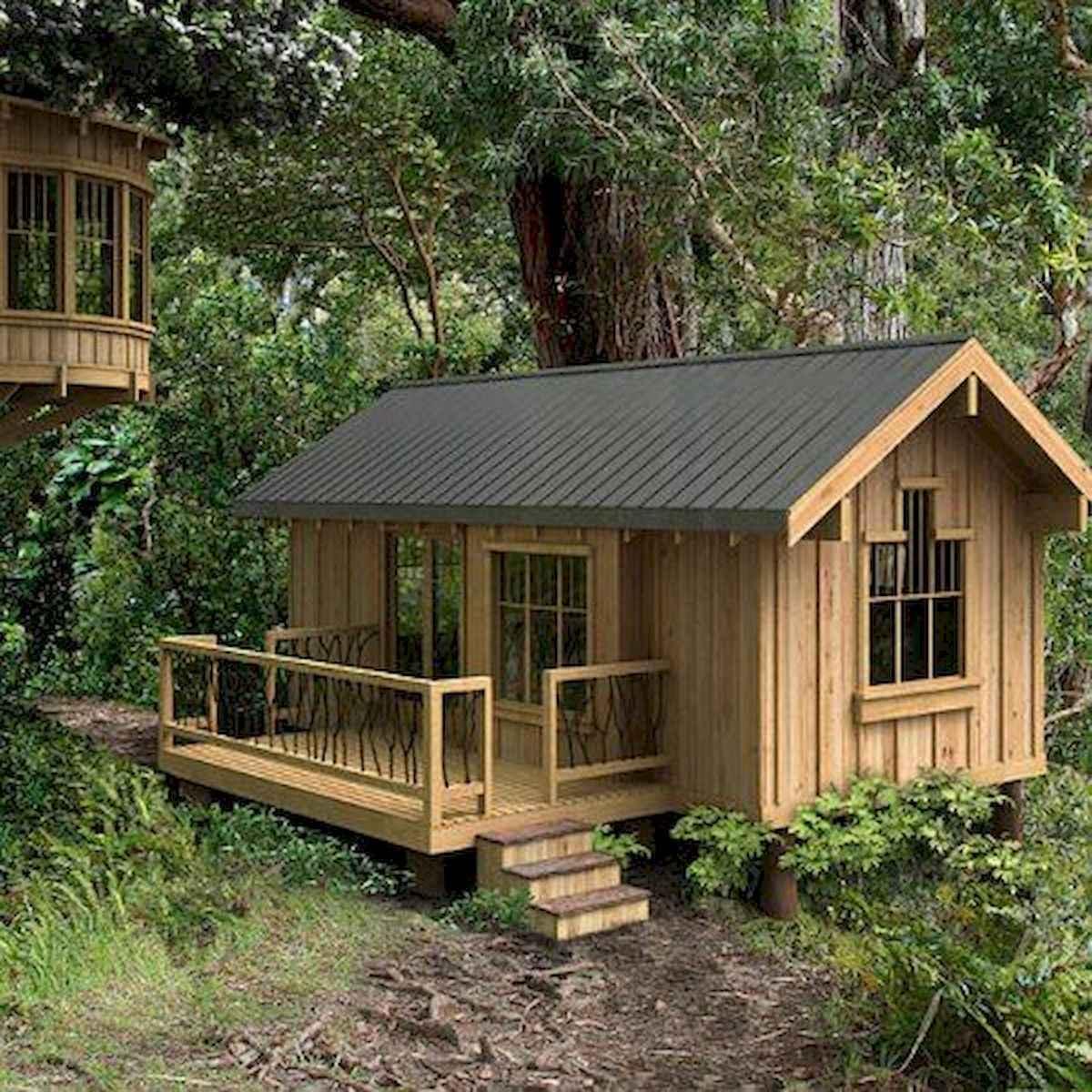 70 Fantastic Small Log Cabin Homes Design Ideas (22)