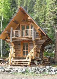 70 Fantastic Small Log Cabin Homes Design Ideas (25)