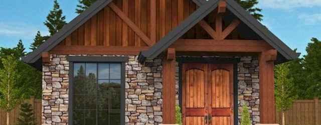 70 Fantastic Small Log Cabin Homes Design Ideas (47)