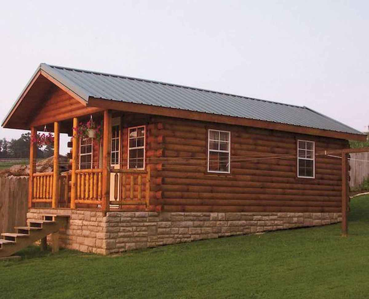 70 Fantastic Small Log Cabin Homes Design Ideas (48)