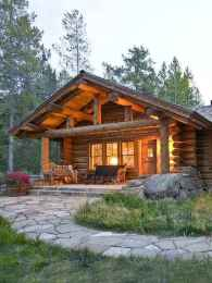 70 Fantastic Small Log Cabin Homes Design Ideas (52)
