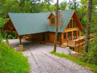 70 Fantastic Small Log Cabin Homes Design Ideas (66)
