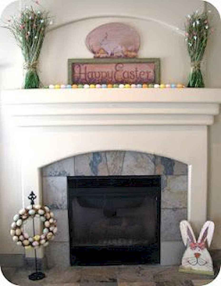 35 Best Easter Fireplace Mantle Decor Ideas (10)