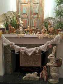 35 Best Easter Fireplace Mantle Decor Ideas (19)