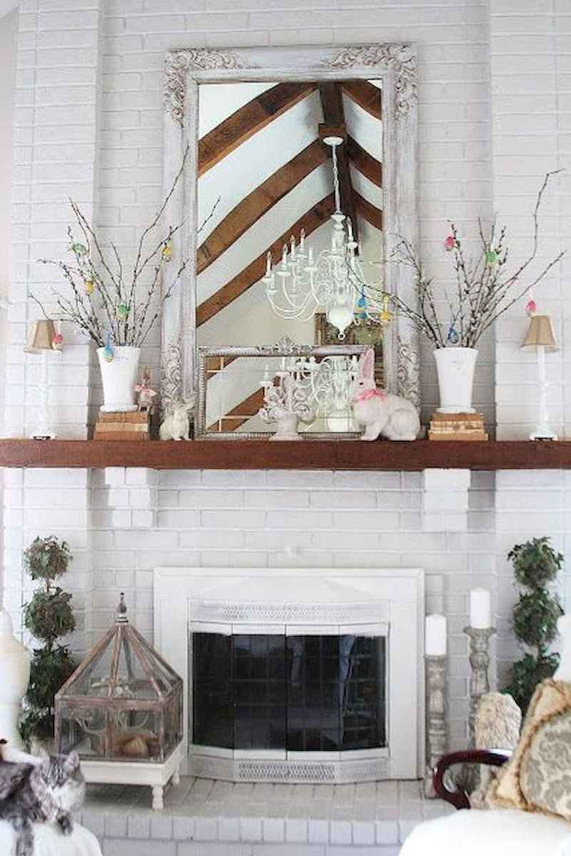 35 Best Easter Fireplace Mantle Decor Ideas (23)