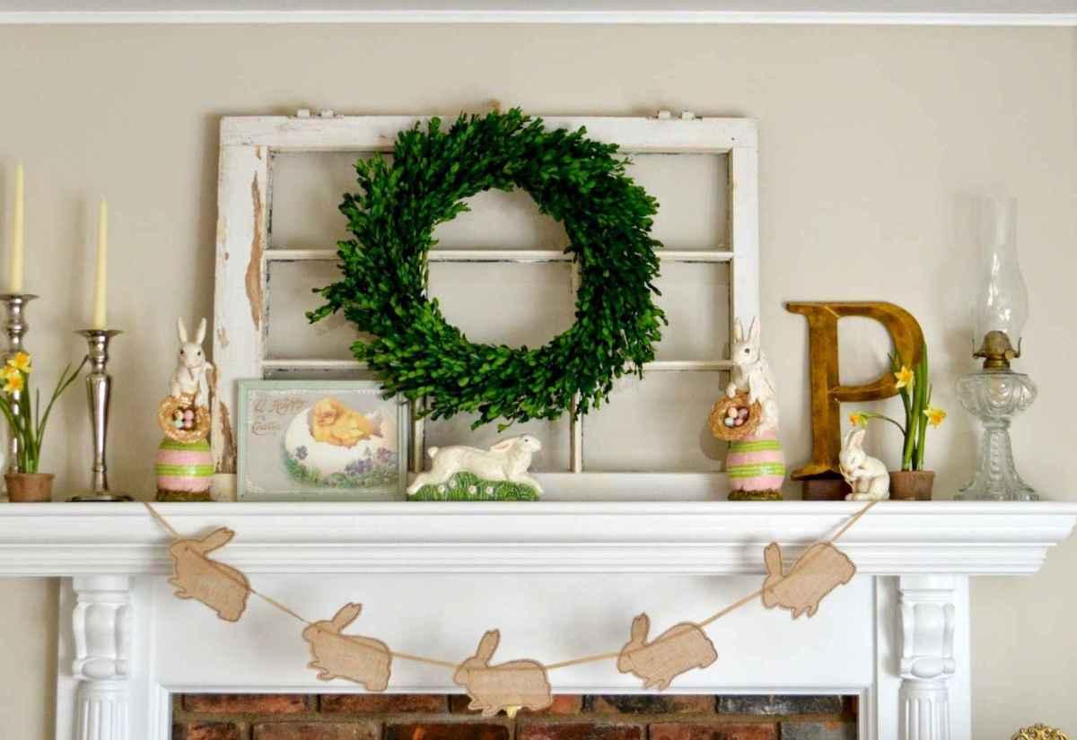 35 Best Easter Fireplace Mantle Decor Ideas (35)
