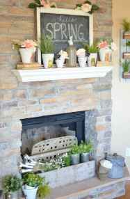 50 Beautiful Spring Mantle Decorating Ideas (20)