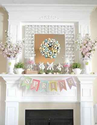 50 Beautiful Spring Mantle Decorating Ideas (26)