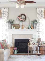 50 Beautiful Spring Mantle Decorating Ideas (7)