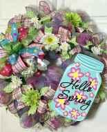 50 Beautiful Spring Wreaths Decor Ideas and Design (10)