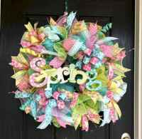 50 Beautiful Spring Wreaths Decor Ideas and Design (24)