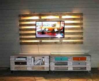50 Favorite DIY Projects Pallet TV Stand Plans Design Ideas (39)