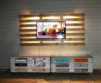 50 Favorite DIY Projects Pallet TV Stand Plans Design Ideas (39)