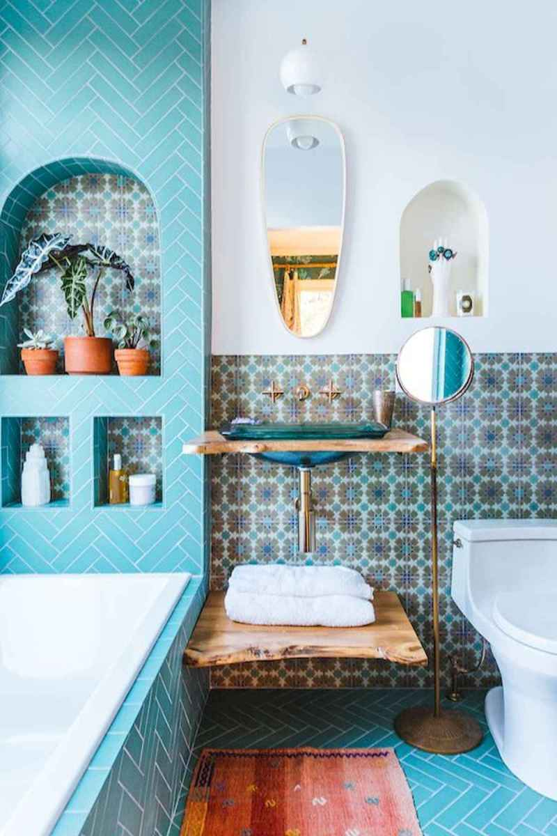 70+ Cool Colorful Bathroom Decor Ideas And Remodel for Summer Project (1)