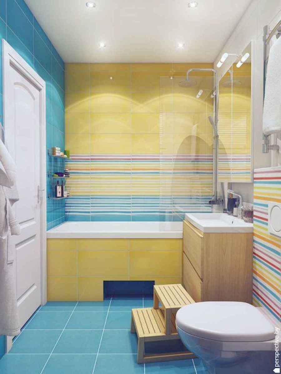 70+ Cool Colorful Bathroom Decor Ideas And Remodel for Summer Project (11)