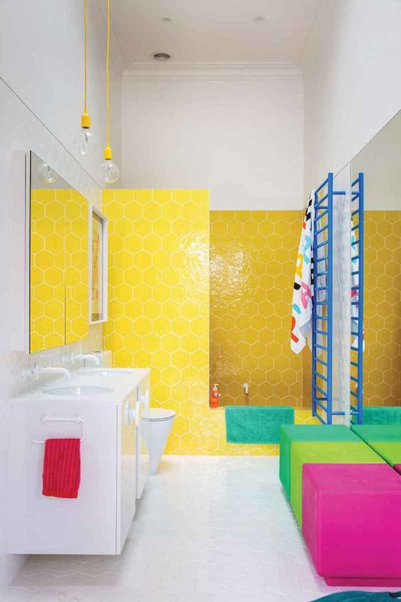 70+ Cool Colorful Bathroom Decor Ideas And Remodel for Summer Project (16)