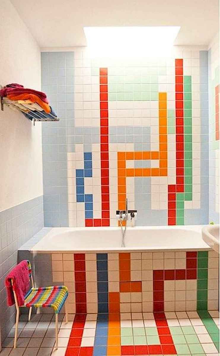 70+ Cool Colorful Bathroom Decor Ideas And Remodel for Summer Project (28)