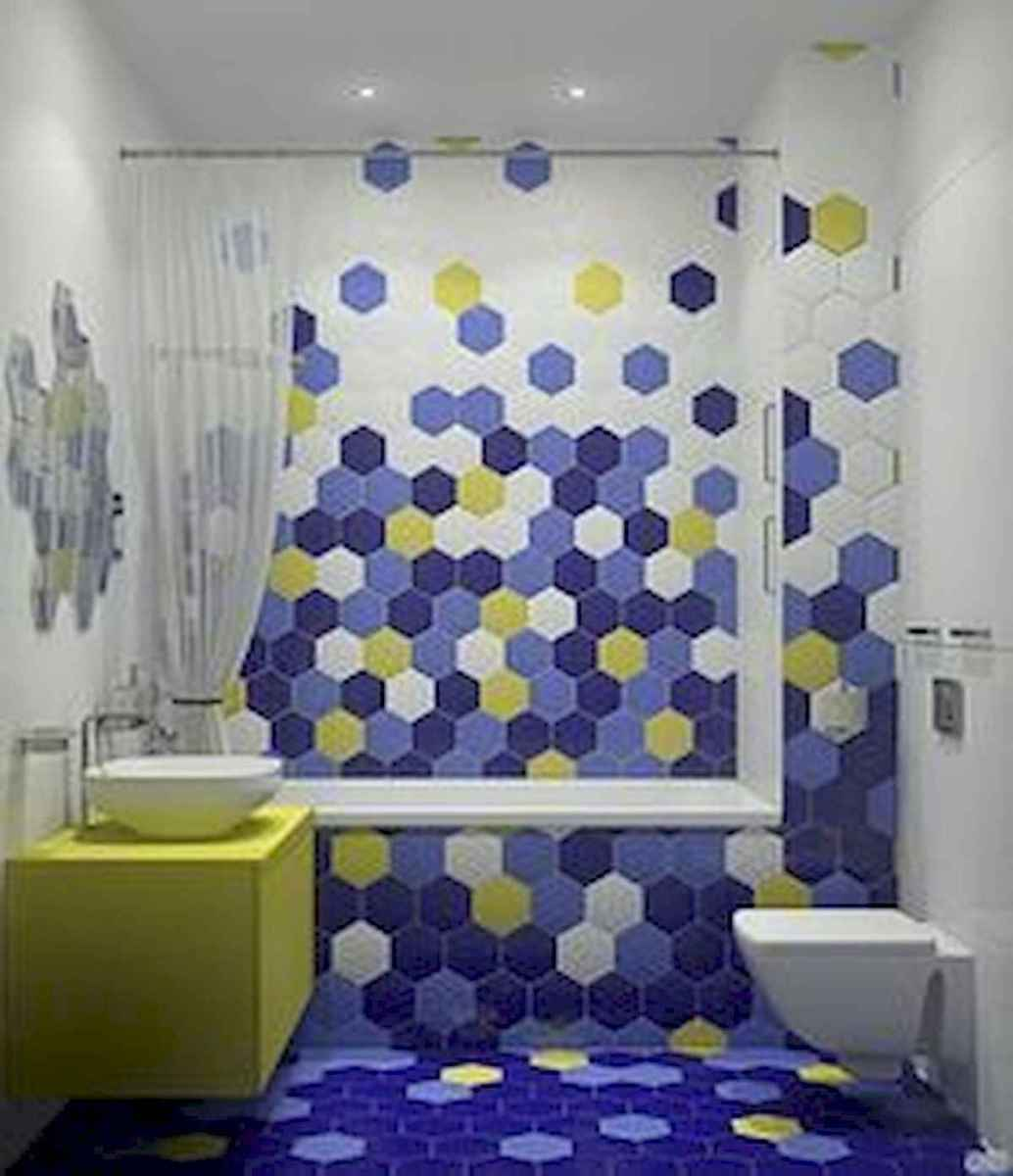 70+ Cool Colorful Bathroom Decor Ideas And Remodel for Summer Project (29)