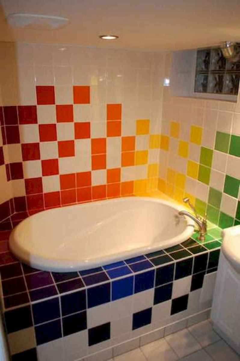 70+ Cool Colorful Bathroom Decor Ideas And Remodel for Summer Project (4)