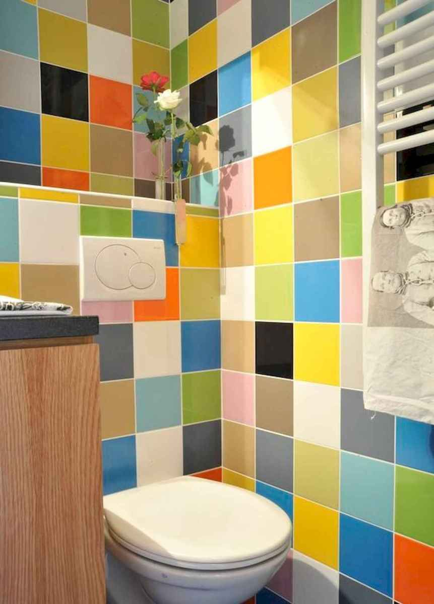 70+ Cool Colorful Bathroom Decor Ideas And Remodel for Summer Project (45)