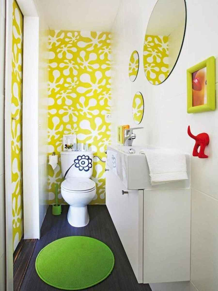 70+ Cool Colorful Bathroom Decor Ideas And Remodel for Summer Project (51)