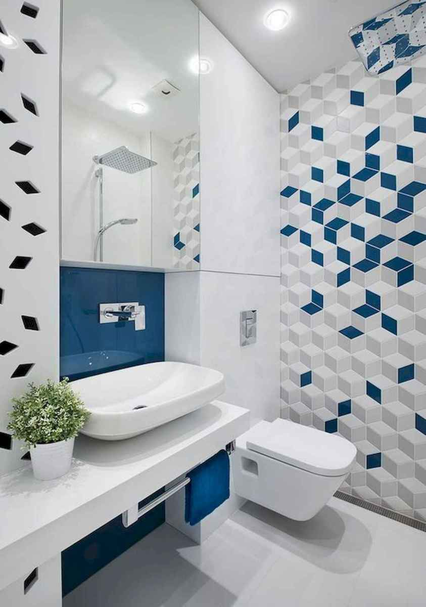 70+ Cool Colorful Bathroom Decor Ideas And Remodel for Summer Project (55)