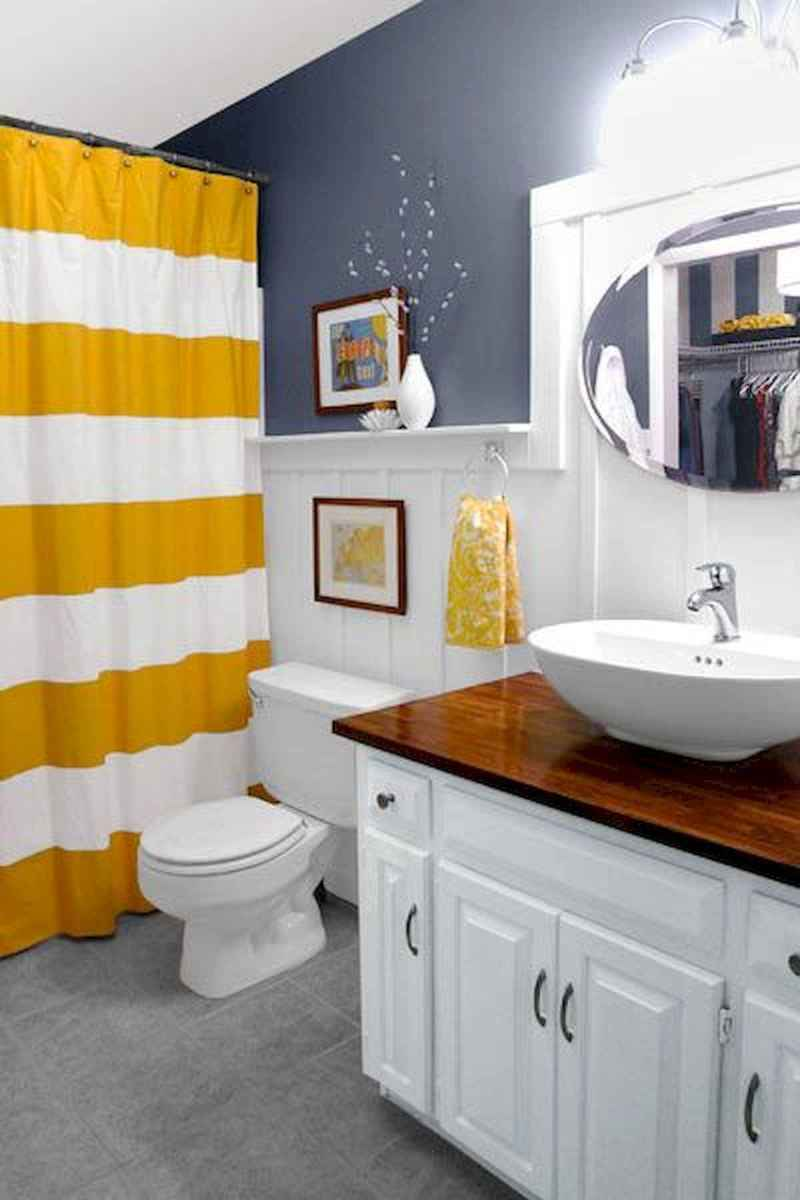 70+ Cool Colorful Bathroom Decor Ideas And Remodel for Summer Project (58)