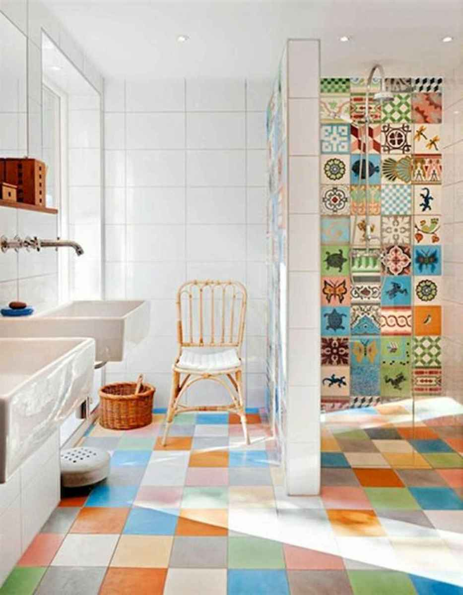 70+ Cool Colorful Bathroom Decor Ideas And Remodel for Summer Project (59)