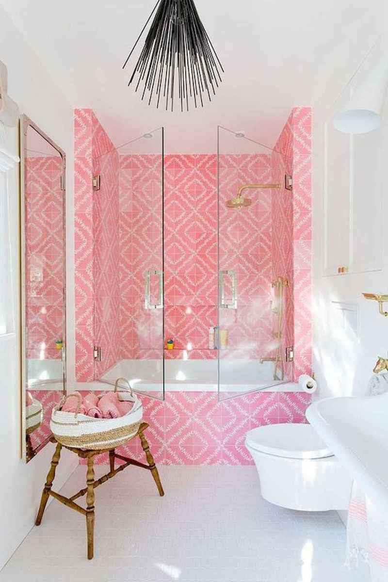 70+ Cool Colorful Bathroom Decor Ideas And Remodel for Summer Project (60)
