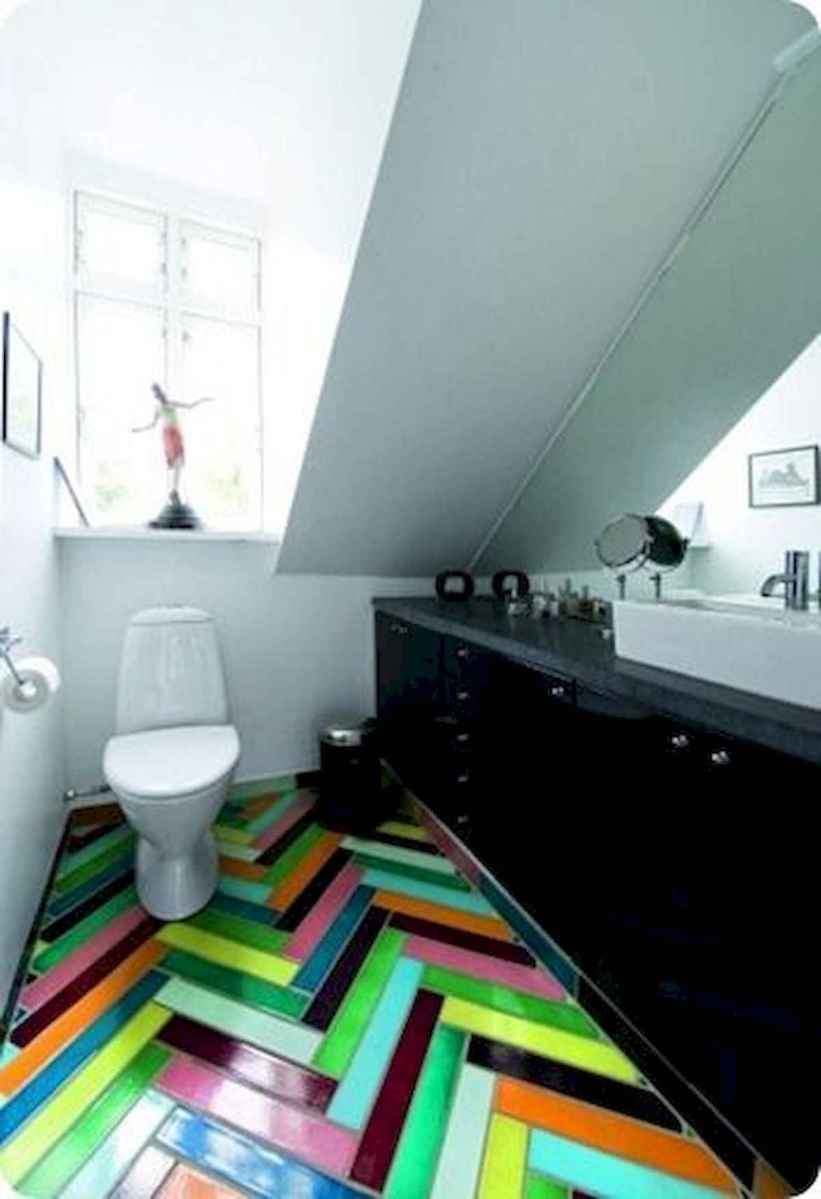 70+ Cool Colorful Bathroom Decor Ideas And Remodel for Summer Project (65)