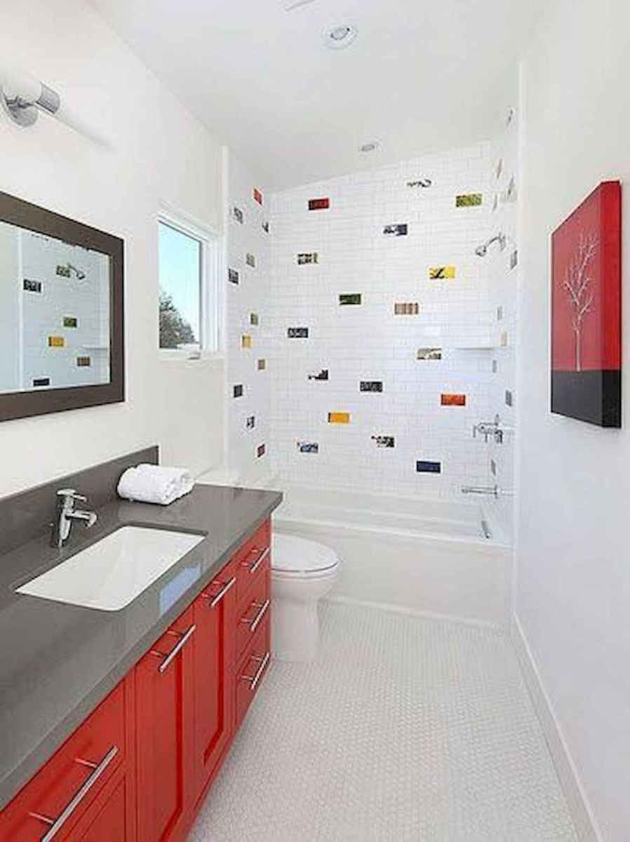 70+ Cool Colorful Bathroom Decor Ideas And Remodel for Summer Project (66)