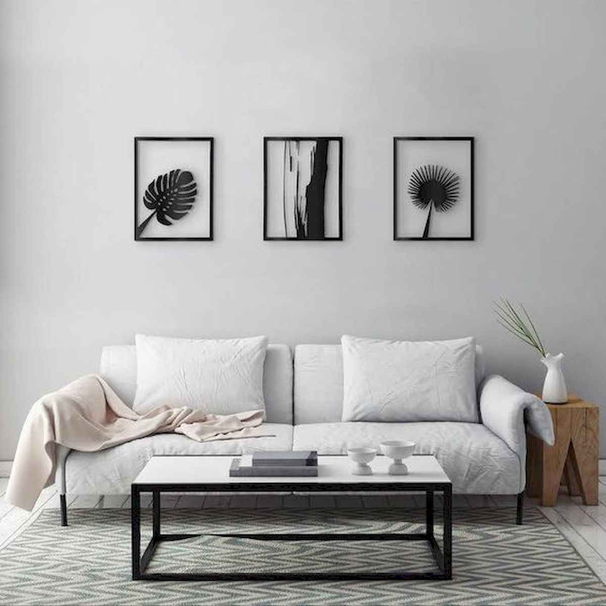 70 Stunning Grey White Black Living Room Decor Ideas And Remodel (12)