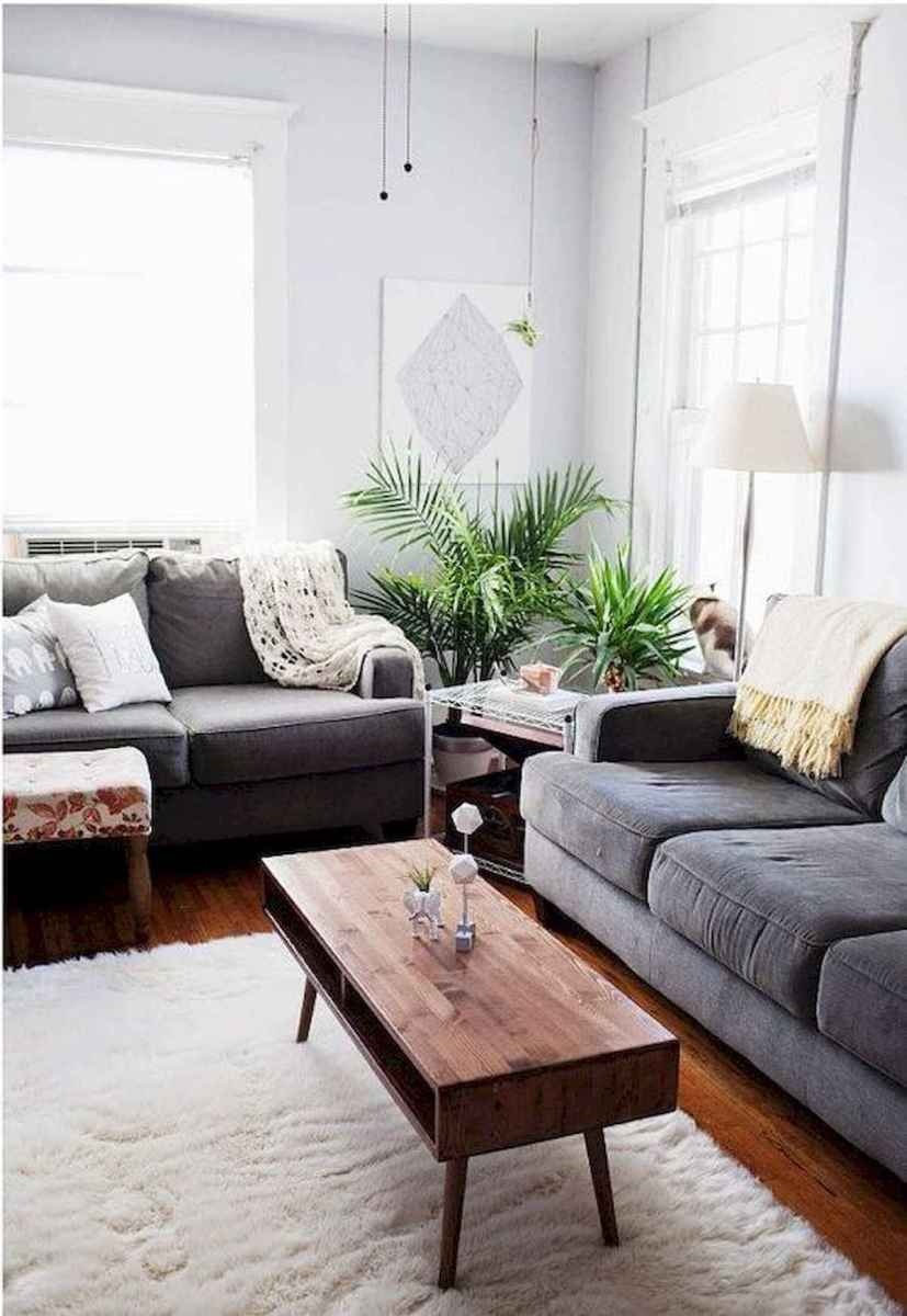 70 Stunning Grey White Black Living Room Decor Ideas And Remodel (14)