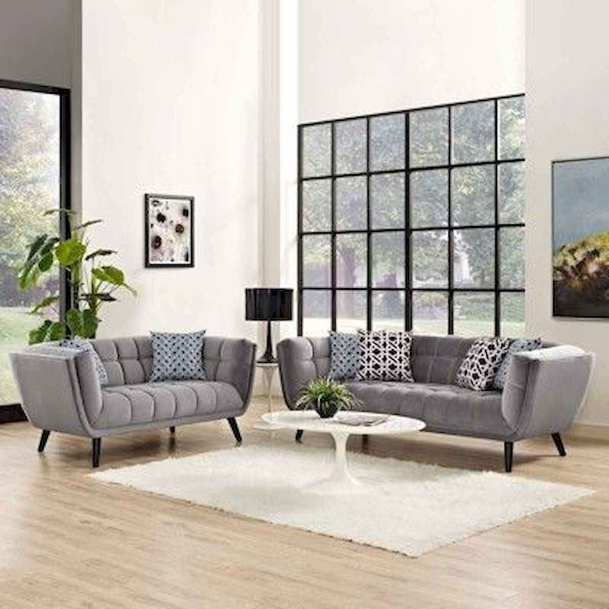 70 Stunning Grey White Black Living Room Decor Ideas And Remodel (16)